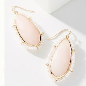 Anthropologie Emilie Pearl wrapped Drop Earrings